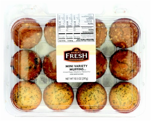 Bakery Fresh Goodness Mini Assorted Muffins Perspective: front