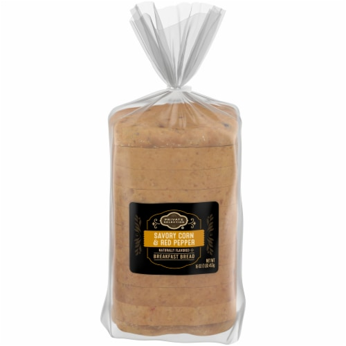 Private Selection® Savory Corn & Red Pepper Sliced Breakfast Bread Perspective: front