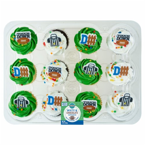 Bakery Fresh Goodness NFL Assorted Cupcakes Perspective: front