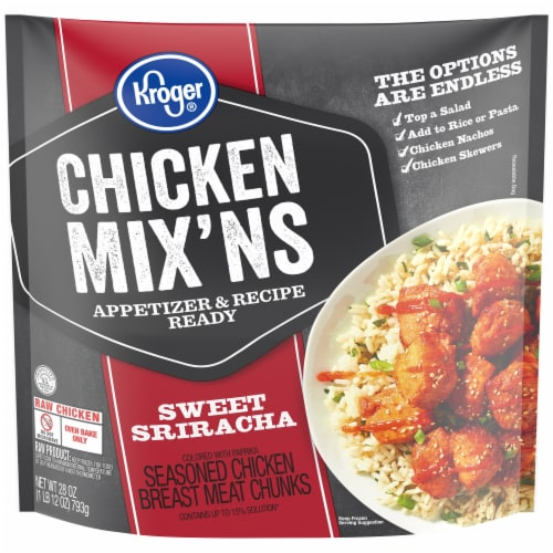 Kroger® Chicken Mix'Ns Sweet Sriracha Seasoned Chicken Breast Chunks Perspective: front