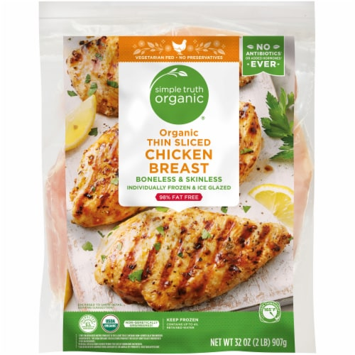 Simple Truth Organic® Thin Sliced Chicken Breasts Perspective: front