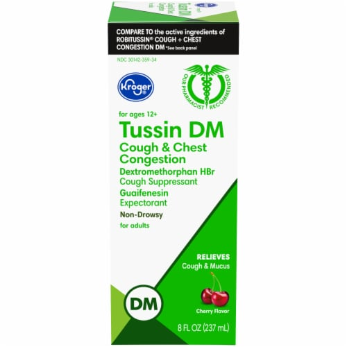 Kroger® Tussin DM Non-Drowsy Cough Suppressant & Expectorant Perspective: front