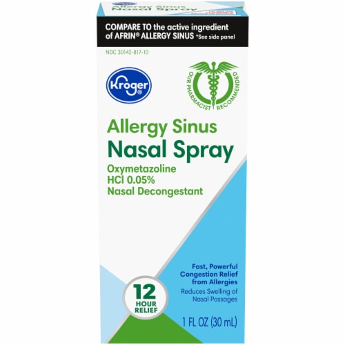 Kroger®  Allergy Sinus Nasal Spray Perspective: front