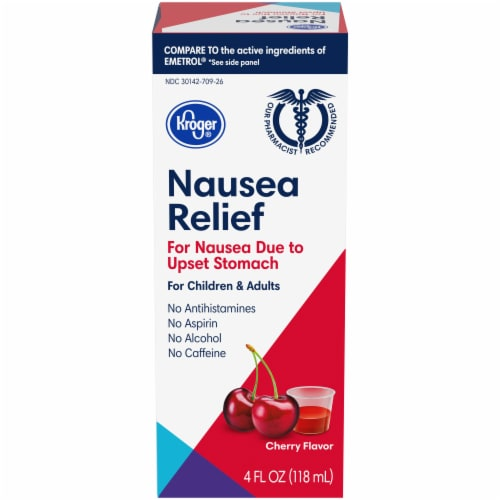 Kroger® Cherry Flavor Anti-Nausea Liquid Perspective: front