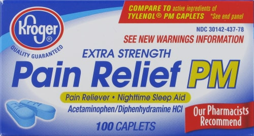 Kroger® Extra Strength Pain Relief PM Caplets Perspective: front