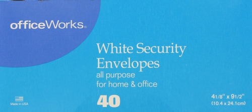 Office Works® Security Envelopes - White Perspective: front