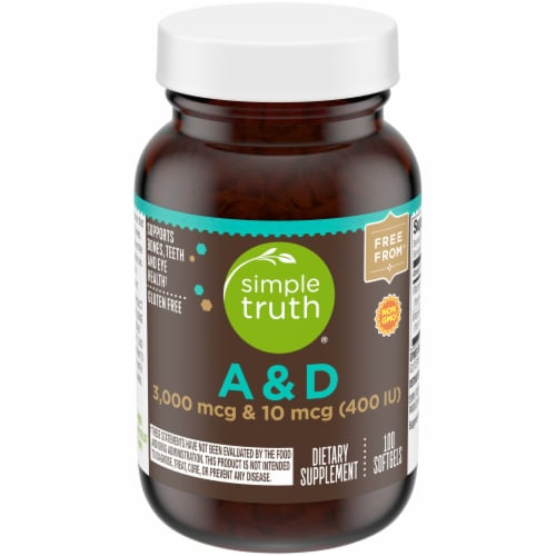Simple Truth™ Vitamin A & D Soft Gels 100 Count Perspective: front