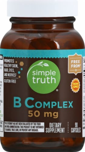 Simple Truth® B Complex Capsules 50mg Perspective: front