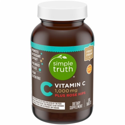 Simple Truth® Vitamin C Plus Rose Hips Tablets 1000mg Perspective: front