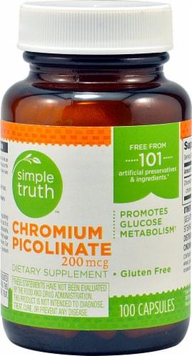 Simple Truth™ Chromium Picolinate Capsules 200 mcg Perspective: front
