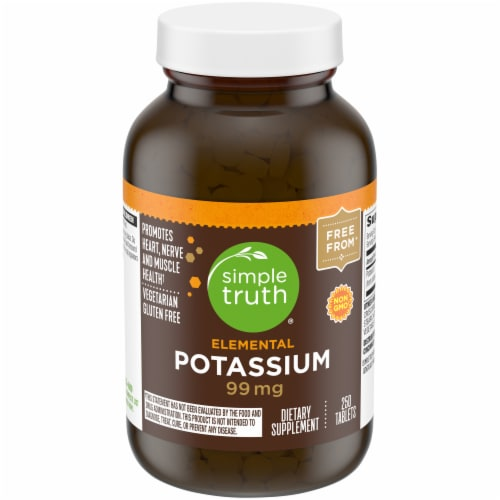 Simple Truth® Elemental Potassium Tablets 99mg Perspective: front