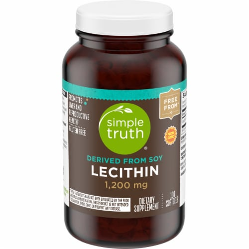 Simple Truth® Lecithin Softgels 1200mg Perspective: front