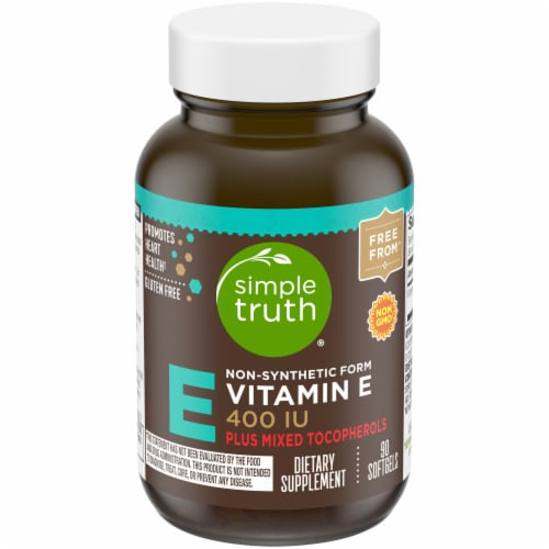 Simple Truth® Non-Synthetic Form Vitamin E Softgels 400IU Perspective: front