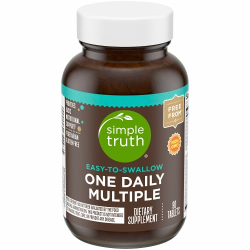 Simple Truth™ Easy-To-Swallow One Daily Multiple Vitamin Tablets Perspective: front