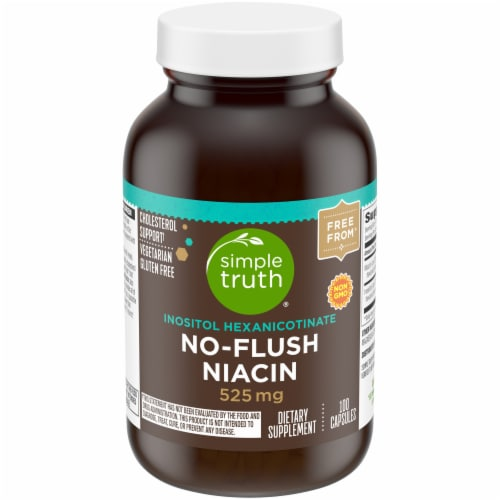 Simple Truth® No-Flush Niacin Capsules 525mg 100 Count Perspective: front