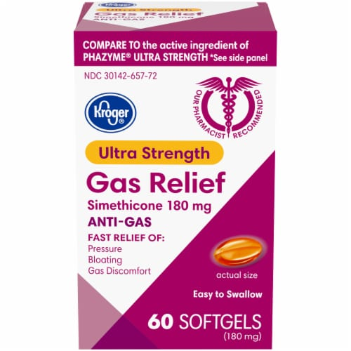 Kroger® Ultra Strength Gas Relief Soft Gels Perspective: front