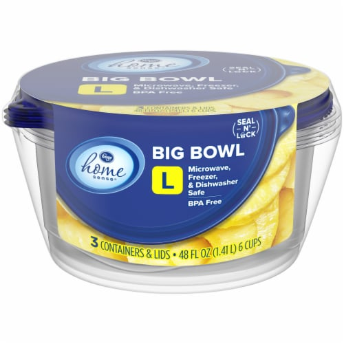 Kroger® Home Sense® Large Bowl Storage Containers Perspective: front