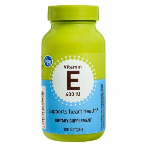 Kroger® Vitamin E Softgels 400 IU Perspective: front