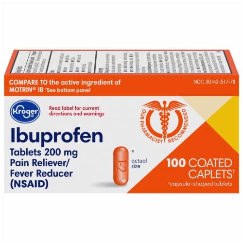 Kroger® Ibuprofen Coated Caplets Perspective: front