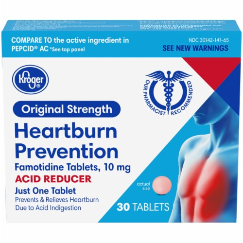 Kroger® Heartburn Prevention Tablets Perspective: front