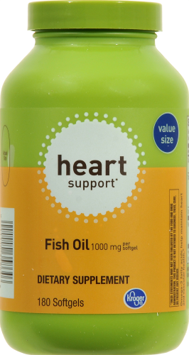 Kroger®  Heart Support Fish Oil 1000 mg Perspective: front