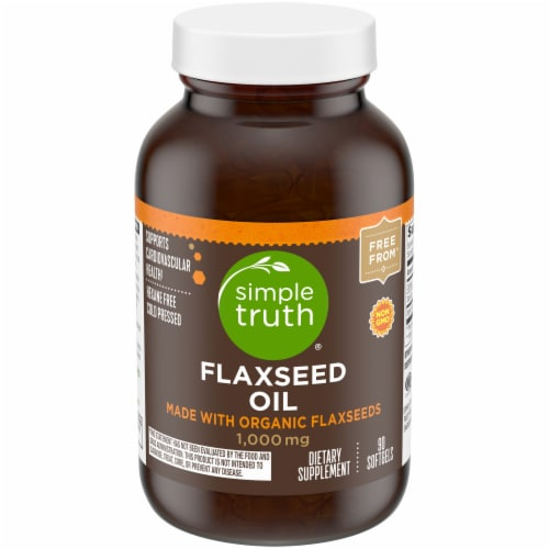 Simple Truth® Flaxseed Oil Softgels 1000 mg Perspective: front