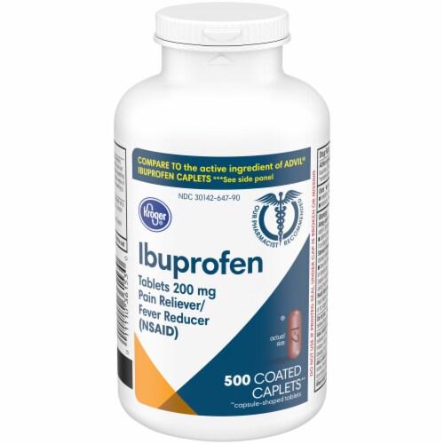 Kroger® Ibuprofen 200mg Coated Caplets Perspective: front