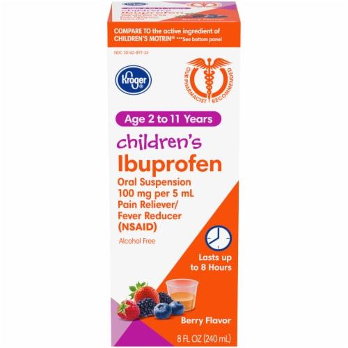 Kroger® Berry Flavor Children's Ibuprofen Perspective: front