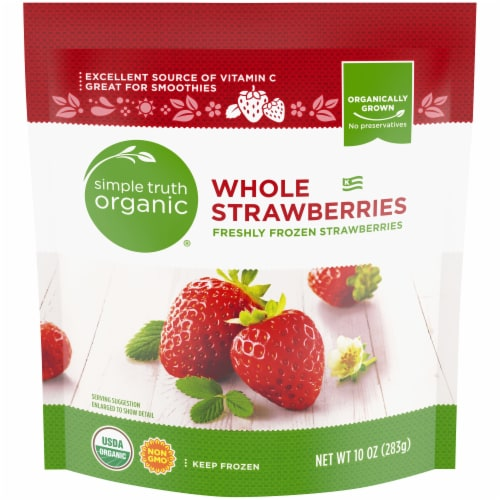 Simple Truth Organic® Frozen Whole Strawberries Perspective: front
