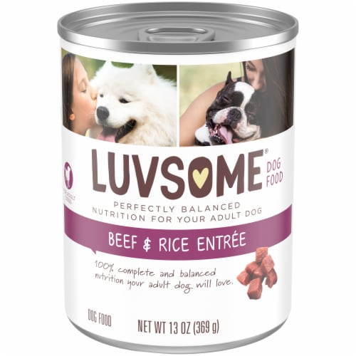 Luvsome® Beef & Rice Entree Wet Dog Food Perspective: front