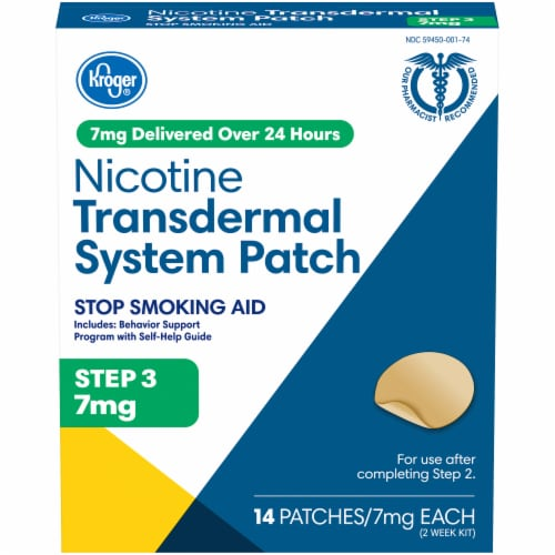 Kroger® Nicotine Transdermal System Patches Step 3 Perspective: front