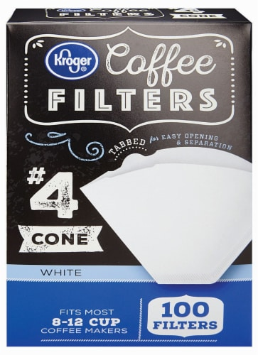 Kroger® # 4 Cone Coffee Filters - White Perspective: front