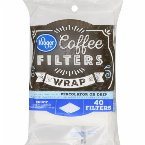 Kroger® Wrap Coffee Filters - White Perspective: front