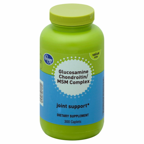 Kroger® Glucosamine Chondroitin / MSM Complex Joint Support Caplets Perspective: front