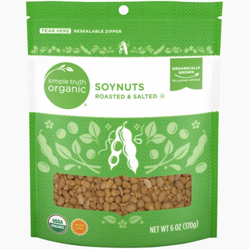 Simple Truth Organic™ Roasted & Salted Soynuts Perspective: front