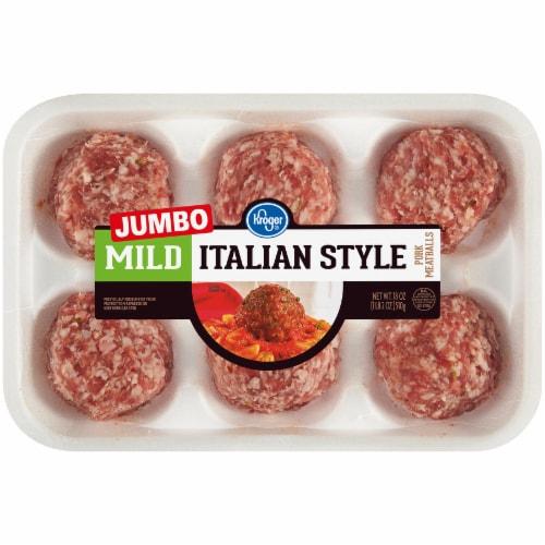 Kroger® Jumbo Mild Italian Style Meatballs Perspective: front