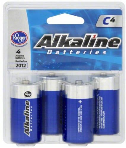 Kroger® C Alkaline Batteries Perspective: front