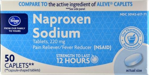 Kroger® Naproxen Sodium Caplets Perspective: front