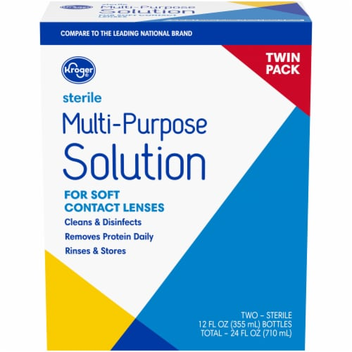 Kroger® Multi-Purpose Soft Contact Lens Solution Perspective: front