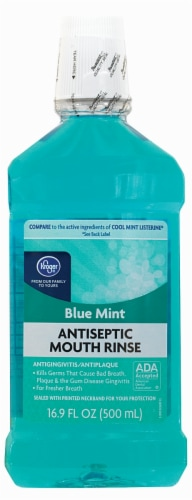 Kroger® Blue Mint Antispectic Mouth Rinse Perspective: front