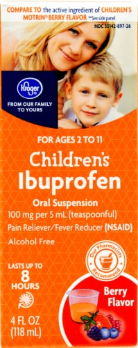 Kroger® Children's Ibuprofen Berry Flavor Oral Suspension Perspective: front