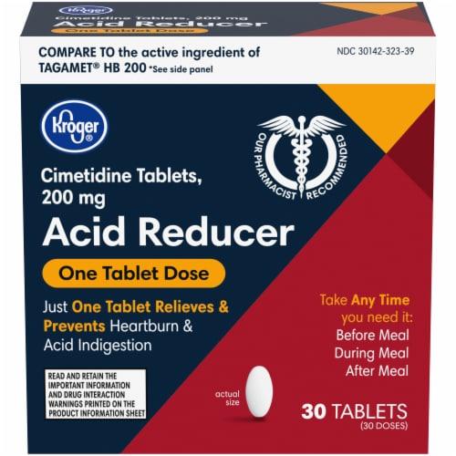 Kroger® Cimetidine Acid Reducer Tablets Perspective: front