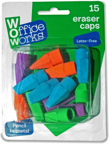 Office Works Eraser Caps - Assorted Perspective: front