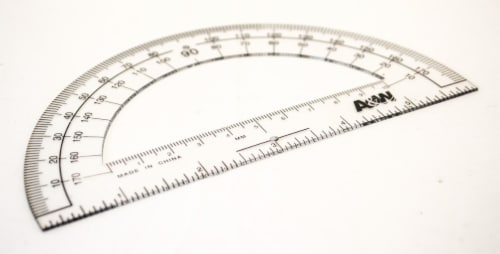 Office Works Protractor - Clear Perspective: front