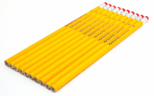 Office Works No. 2 Pencils - Yellow Perspective: front