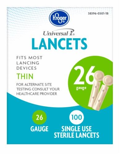 Kroger® 26 Gauge Sterile Thin Lancets Perspective: front