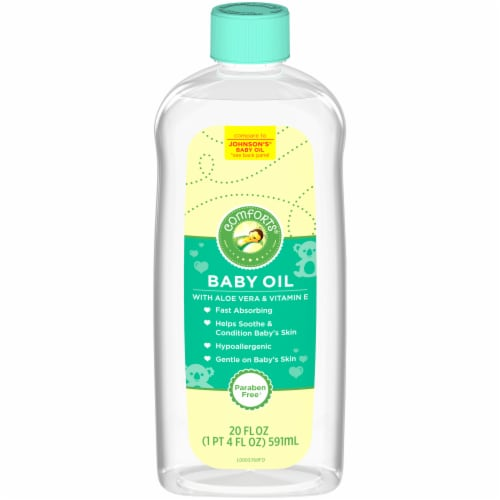 Comforts® Baby Oil Perspective: front