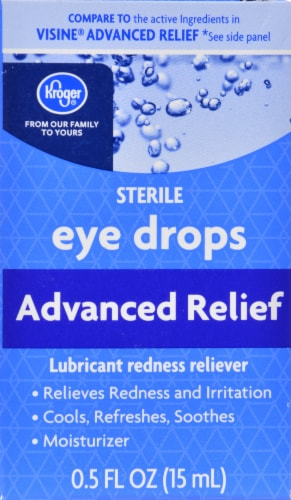 Kroger® Advanced Relief Eye Drops Perspective: front