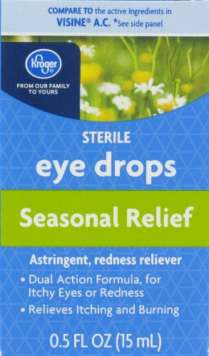 Kroger® Seasonal Relief Sterile Eye Drops Perspective: front