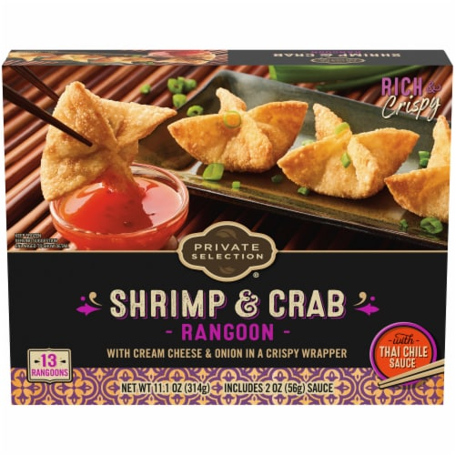 Private Selection® Shrimp and Crab Rangoon's with Thai Chili Sauce Frozen Meal Perspective: front
